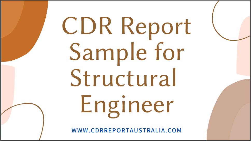 CDR Report Sample for Structural Engineer